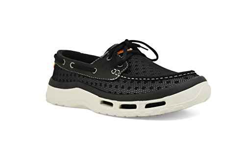 Soft Science Men's The Fin 2.0 Boat Shoes, Black Mesh, 10...