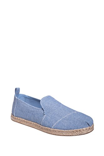 Toms Women's Alpargata Casual Shoe Blue Slub Chambray (8)
