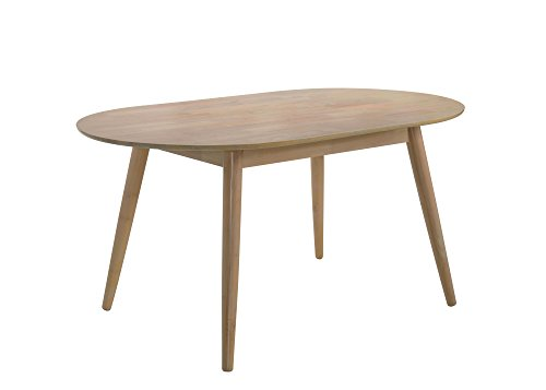 HOMES: Inside + Out IDF-3876OT Zuniga Dining Table (Wood Oval Table Natural)