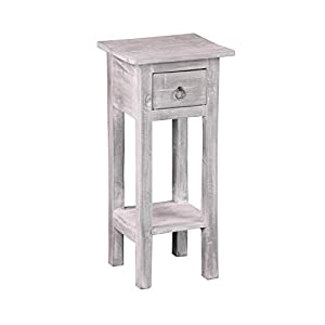 Sunset Trading Shabby Chic Cottage Accent Table, Stonewall Gray