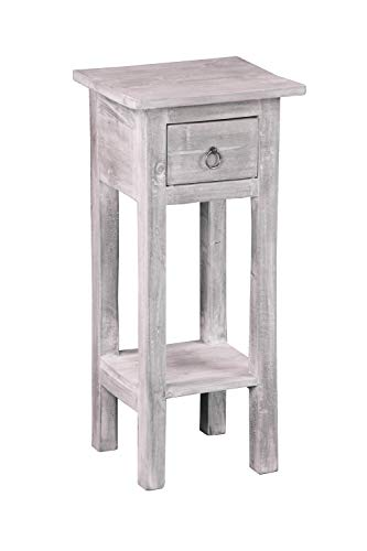 Sunset Trading CC-TAB1792LD-SW Shabby Chic Cottage Accent Table, Stonewall Gray