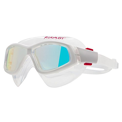 Barracuda KONA81 Swim Goggle K934 - Mirror Curved Lenses Mask Silicone Gaskets, Anti-fog UV Protection, Easy adjusting Comfortable No leaking, Triathlon Racing for Adults Men Women #93410 (clear)