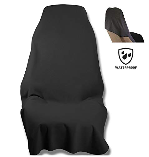 Waterproof SeatShield UltraSport Seat Protector (Black) - The Original Removable Auto Car Seat Cover - Soft Odor-Proof, Guards Leather or Fabric from Sweat, Food, Spills, Sand and mud ()