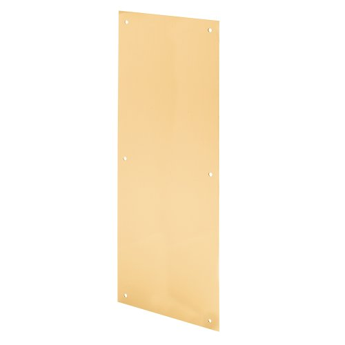 Prime-Line Products J 4634 Push Plate, 8 by 16, Brass Finished - Inch Aluminum Push Plate 16