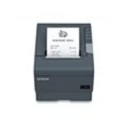Epson C31CA85A8690 TM-T88V Thermal Receipt Printer, USB and USB with DB9 Serial Interfaces, With PS-180 Power Supply and AC Cable, Dark Gray