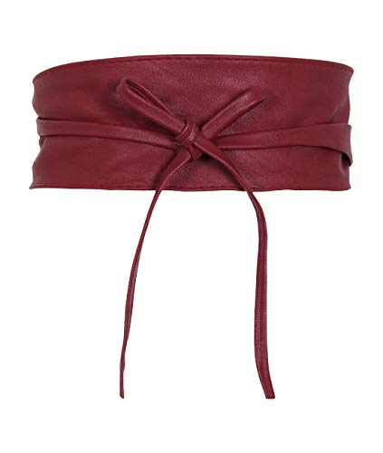 14987-WIN-OS: KRISP One Size PU Waist Belt, Wine, One Size (Belt Wine)