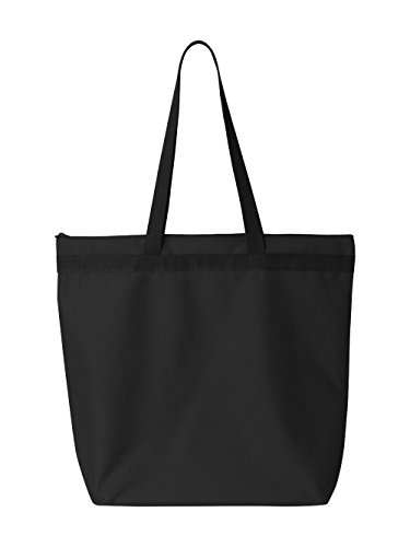 Liberty Bags Adult Large Tote with Zipper Closure (8802) - Recycled Canvas Tote Bags
