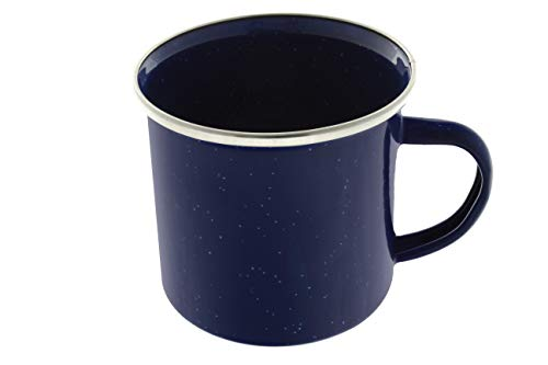 Direct 2 Boater 24 oz Enamel Mug - 4 Pack - Metal Camping Mug with Blue Enamel Finish - Coffee Mug for Camping, Hiking & Picnics