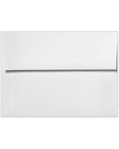 - A8 Invitation Envelopes (5 1/2 x 8 1/8) - 70lb. Bright White (50 Qty) | Perfect for Invitations, Announcements, Sending Cards, 5x7 Photos | 20743-50