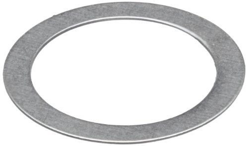 302 Stainless Steel Round Shim, Unpolished (Mill) Finish, Hard Temper, ASTM A666, 0.40mm Thickness, 5mm ID, 6mm OD (Pack of 25)