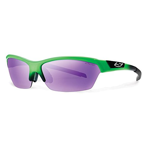 - Smith Optics Approach Sunglasses, Reactor Green Frame, Purple Sol-X Ignitor Carbonic TLT Lenses