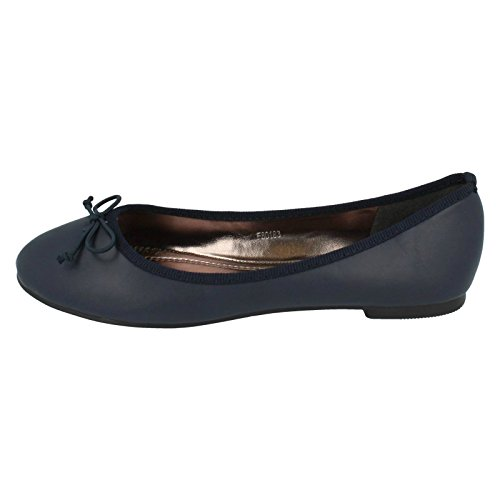 Flat Style Shoes D F80183 Anne Navy Michelle Ladies pxqTwBEF