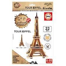 Giochi Grandi puzzle 3D mini in legno Tour Eiffel