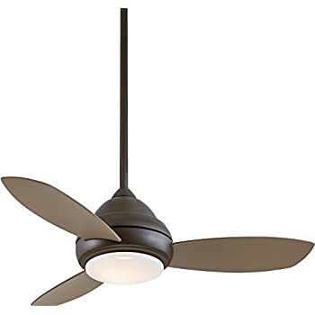 """Minka-Aire F517-BN, Concept I, 52"""" Ceiling Fan, Brushed ..."""