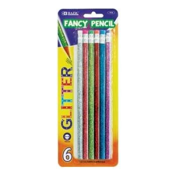 Bazic Metallic Glitter Wood Pencil with Eraser 24 pcs sku# 335026MA (Metallic Glitter Bazic)