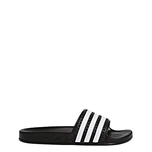 adidas Originals Kids' Adilette Slide, Black/White/Black, 4 M US Big Kid