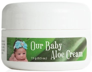 Our Baby Aloe Cream, Eczema + Psoriasis, After Sun Lotion, for Babies & Up. Buy for Your Kids, Use It Yourself, the Best Face Creams. Try It Risk Free 100% (2 x 1/2 oz Trial)