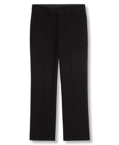 Calvin Klein Boys' Little Bi-Stretch Flat Front Dress Pant, Black, 5