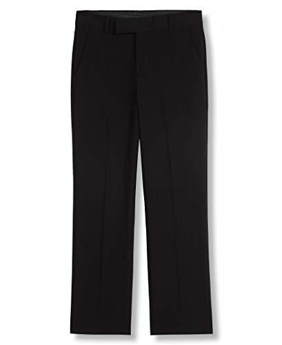 Calvin Klein Big Boys' Flat Front Pant , Black, 8 -
