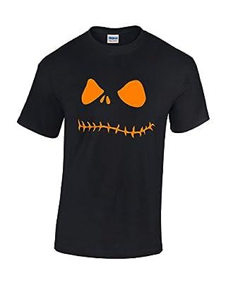 Crazy Bro's Tees Orange Jack O' Lantern Pumpkin Face Halloween Costume Funny Men's T-shirt