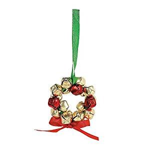 Metal Jingle Bell Wreath Christmas Ornament Craft Kit for kids-makes 12 school classroom activity