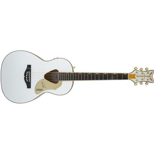 Gretsch Guitars G5021WPE Rancher Penguin Parlor Acoustic/Electric White Gretsch Cutaway Guitar