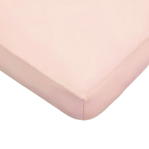 American Baby Company 100% Natural Cotton Jersey Knit Fitted Portable/Mini-Crib Sheet, Blush, Soft Breathable, for Girls