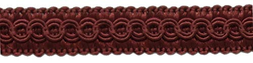DÉCOPRO 54 Yard Package of 1/2 inch Burgundy Basic Trim Decorative Gimp Braid, Style# 0050SG Color: Ruby - E10 (164 Ft / 50 Meters) by DÉCOPRO