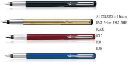 Parker Vector - Pluma estilográfica Parker, 4 colores (negro, oro, rojo, azul): Amazon.es: Oficina y papelería
