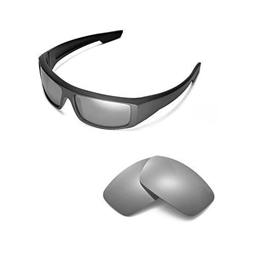 Walleva Replacement Lenses for Spy Optic Logan Sunglasses - Multiple Options Available (Titanium Mirror Coated - - Spy Sunglasses Optic Logan