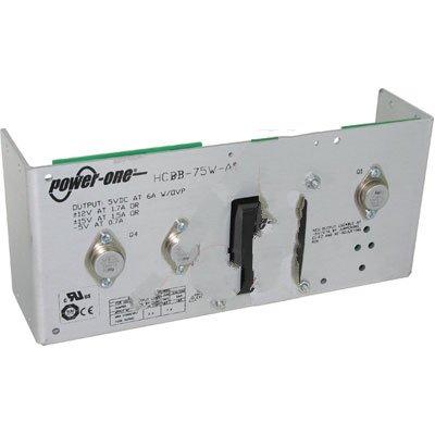 Bel Power Solutions HCBB-75W-AG, Power Supply; AC-DC; 5V@6A, 12V@1.7A, -5V@0.7A; 100-264V In; Open Frame; Pnl Mnt; Linear
