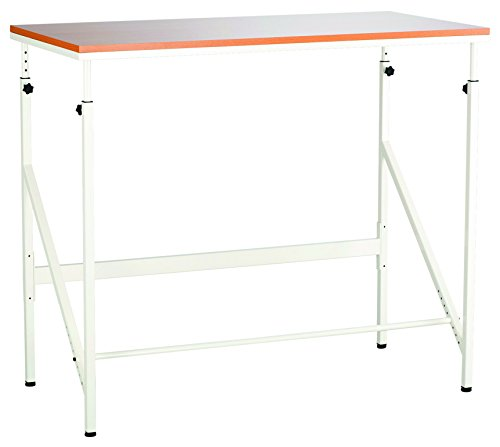 (Safco Products 1957BH Sit/Stand Bi-Level Desk, Beech/White)