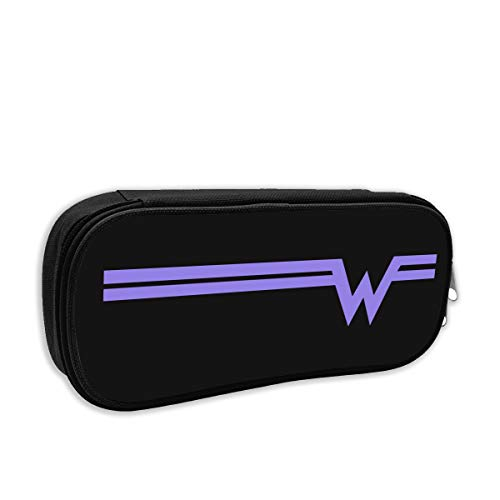 WENJYGUD22 DeepHeather Weezer Rock Band Logo Beautiful Stationery Bag for Children and Women One Size Black