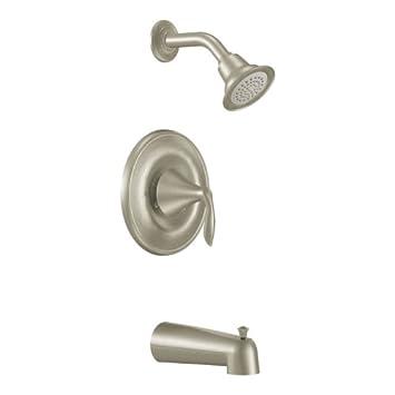 Brushed Nickel 0.5 MOEN T2133BN Eva PosiTemp Tub and Shower Trim Kit without Valve