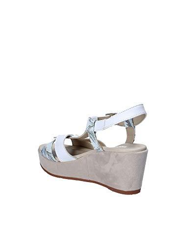 Bianco Valleverde Sandalo Zeppa 32208 Donna I88RxfqTvw