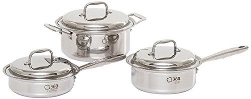 360 Stainless Steel Cookware Set, Handcrafted in the USA, Induction Cookware,...