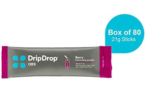 DripDrop ORS Electrolyte Hydration Powder Sticks, Berry Flavor, 80 Sticks, Makes (80) 16oz Servings