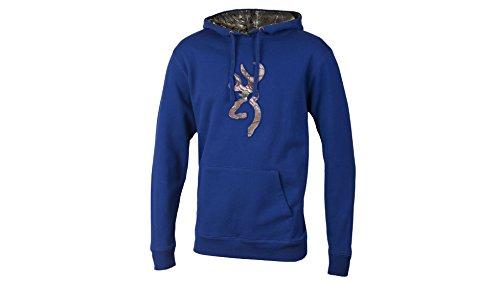 Browning Men's Buckmark Camo Hooded Sweatshirt (S, Limoges/Realtree Xtra)
