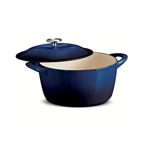 Tramontina 6.5 Qt Enameled Cast Iron Dutch Oven Cobalt Color