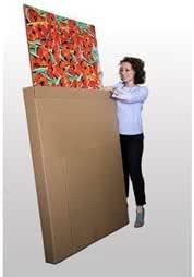 Juego de 1 caja de cartón extra fuerte para embalaje/traslado de cuadros y TV planas,65 cm x 10 cm x 80 cm de altura.: Amazon.es: Hogar