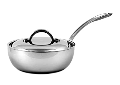 CIA Masters Collection 7-Ply Copper Clad Stainless Steel 2qt Saucier w/ Cover
