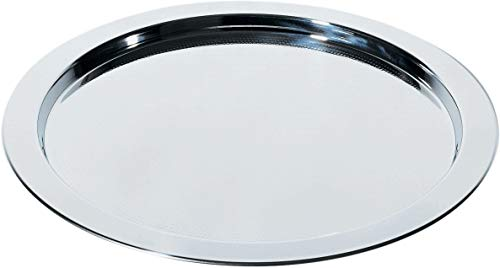 Alessi 5001/37 Engr. Round Tray With Graphic, Silver (Renewed)