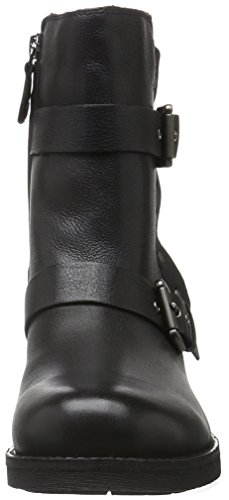 Geox D New Virna J, Bottes Motardes Femme Schwarz (BLACKC9999)