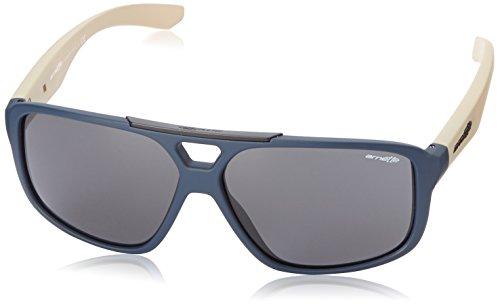 Arnette Fat City Round Sunglasses,Fuzzy Navy/Fuzzy Khaki/Grey,55 mm