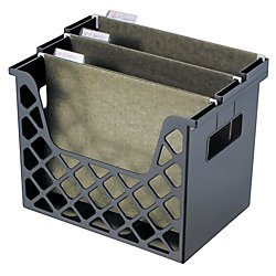 Office Depot 30% Recycled Desktop File Organizer, 10 3/4in.H x 13 1/4in.W x 8 5/8in.D, Black, (Recycled Desktop)