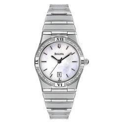 - Bulova Women's 96R009 Diamond Case Calendar Watch