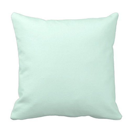 Generic Solid Light Mint Green Color Throw Pillow Cover Poly