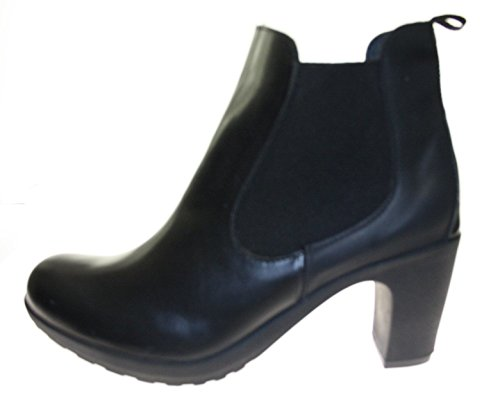 Stiefeletten Damenschuhe ECHT LEDER Farbe Schwarz