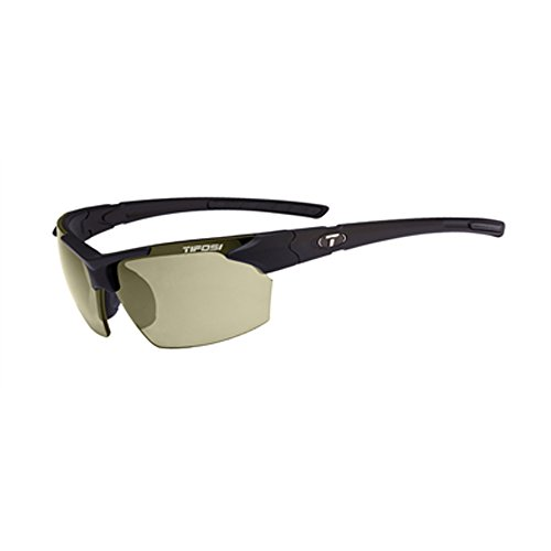 (Tifosi Jet 0210500151 Polarized Wrap Sunglasses,Matte Black Frame/Smoke Lens,One Size)