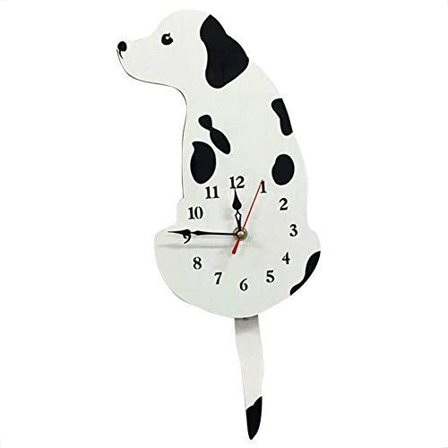 Zerama Cartoon Dog Wag Tail Wall Watch Home Kitchen Office School Cute Acrylic Clock Wall Decorations